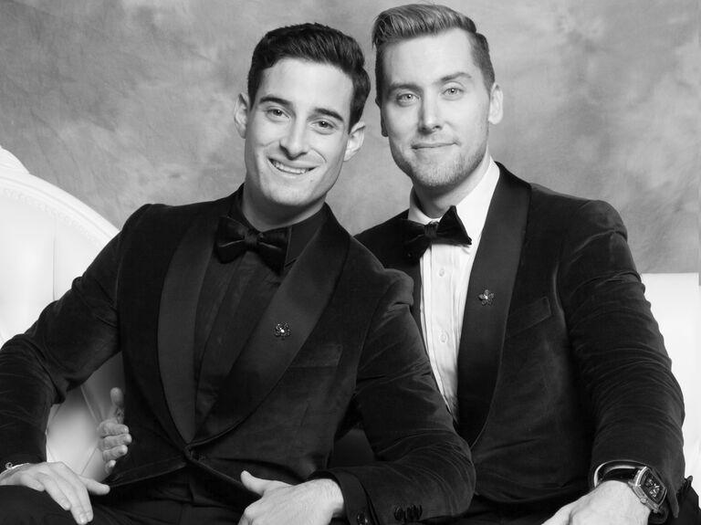 Lance Bass and Michael Turchin wedding portrait