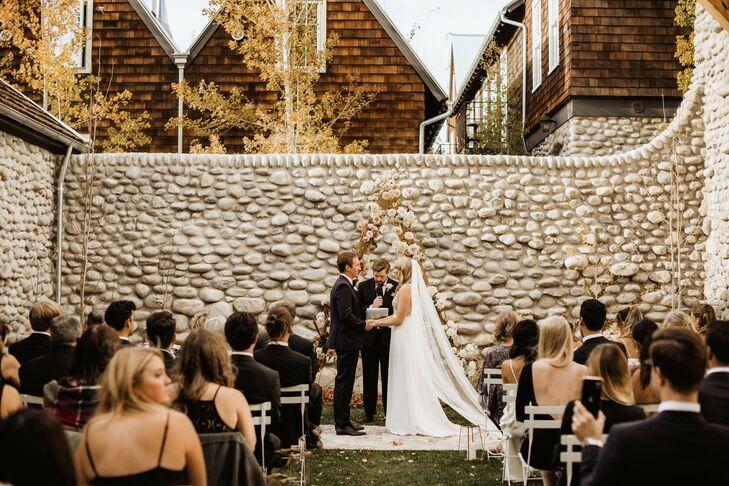 Wedding Ceremony at Surf Hotel in Buena Vista, Colorado
