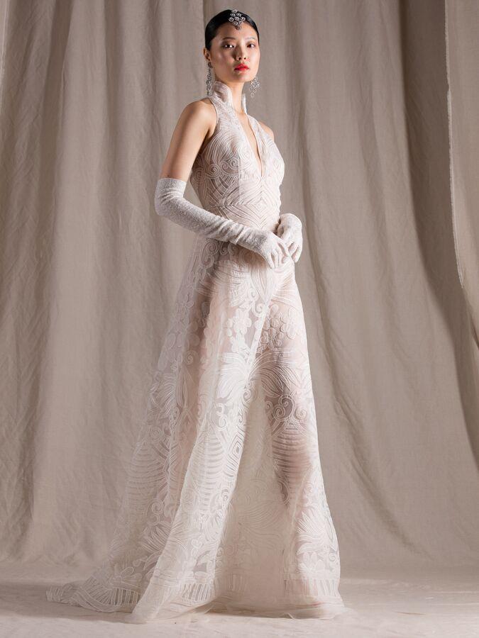 Naeem Khan A-line organza wedding dress