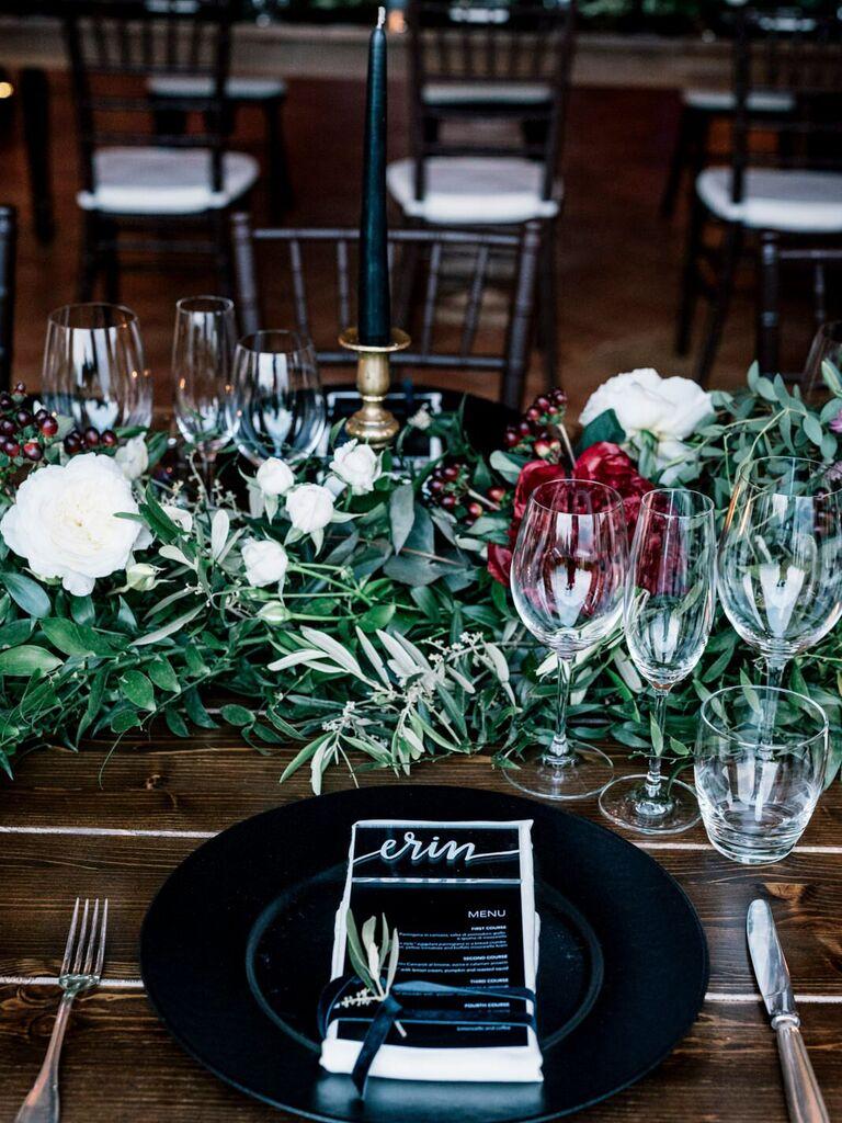 Wedding Centerpieces Dark and Moody
