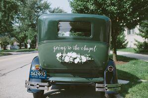 Vintage Green Ford Model T Getaway Car