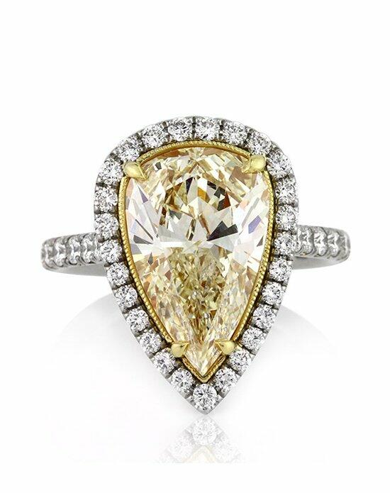 Mark Broumand 5.08ct Fancy Yellow Pear Shaped Diamond Engagement Ring Engagement Ring photo