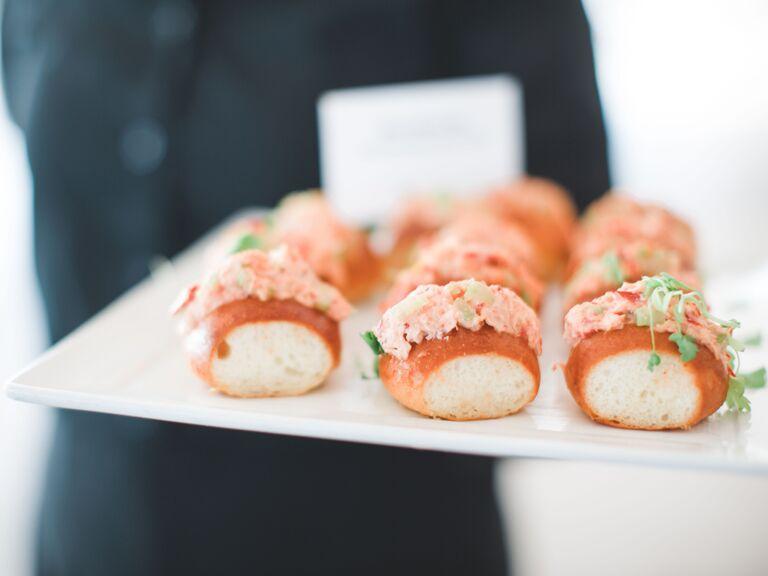 friends themed wedding lobster roll apps