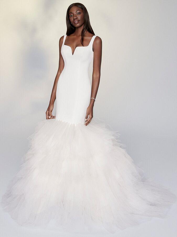Justin Alexander Signature mermaid wedding dress with tulle skirt