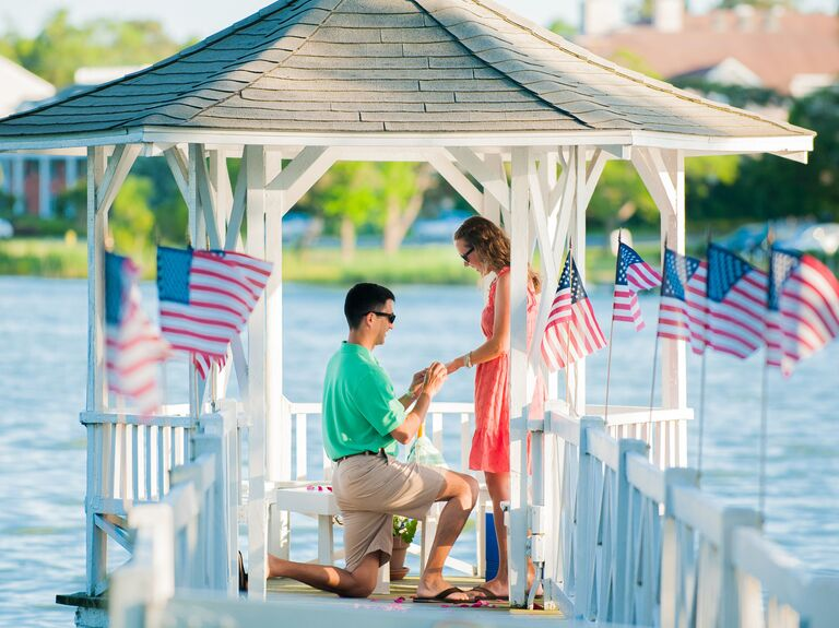 Fourth of July marriage proposal idea