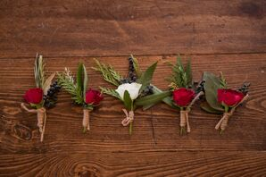 Winterberry Boutonnieres