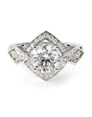 James Allen Vintage Round Cut Engagement Ring