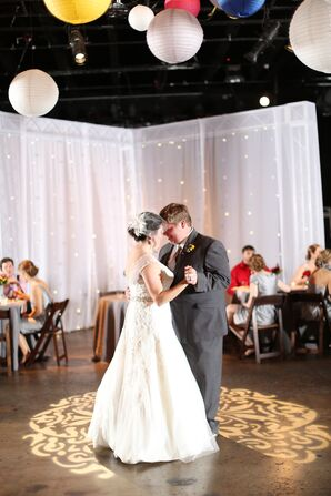 First Dance at Colorful Rocketown Reception