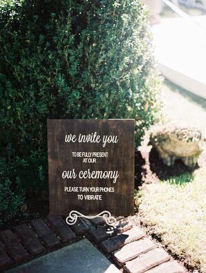 Rustic Wedding Etiquette Sign