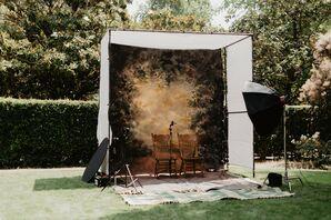 Tintype Photo Booth at Whimsical Backyard Wedding