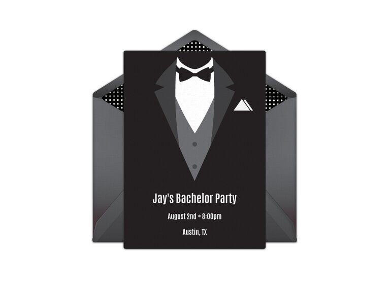 Bachelor party digital invitation