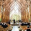 A Woodland Navy-and-Yellow Wedding at Anthony Chapel in Hot Springs, Arkansas