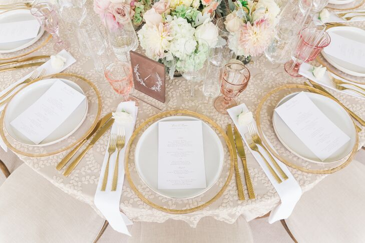 Gold Flatware and Chargers