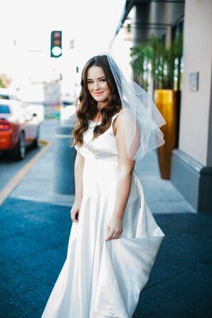 White Silk Vintage Wedding Dress