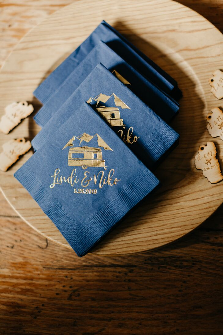 Wood Serveware and Personalized Napkins