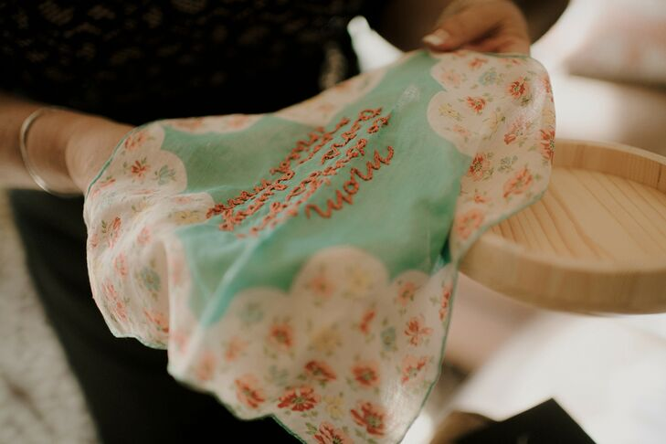 Personalized Handkerchief for Wedding at The Space HTX in Houston, Texas