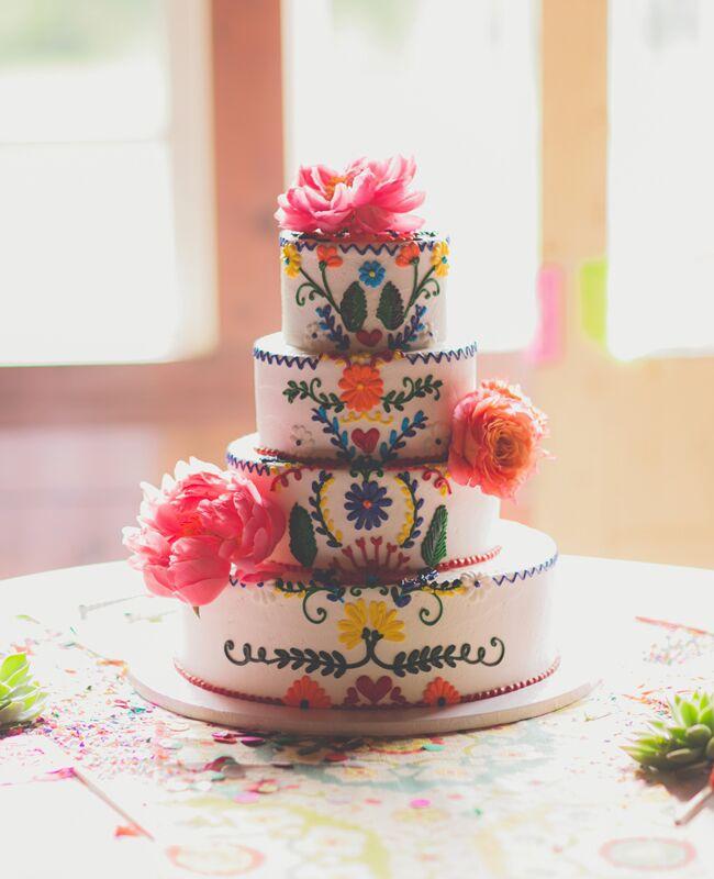 Mexican-Inspired Wedding Cake | Nbarrett Photography | Blog.theknot.com