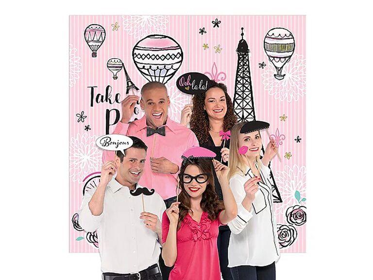 party city paris photo booth kit for paris themed bridal shower