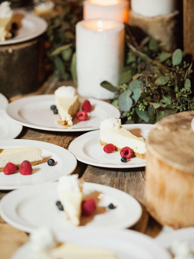 friends themed wedding cheesecake
