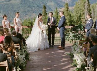 Emily and Brett Delay both grew up visiting Colorado and consider it their second home, so they opted for a mountainside wedding at The 10th in Vail.