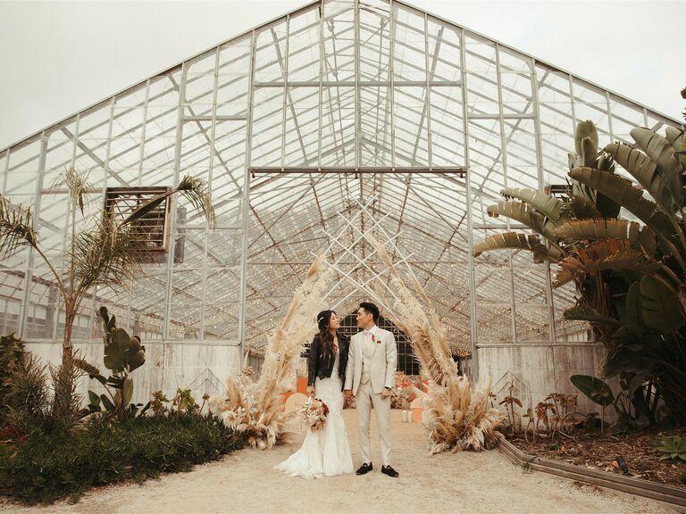 outdoor wedding venue greenhouse
