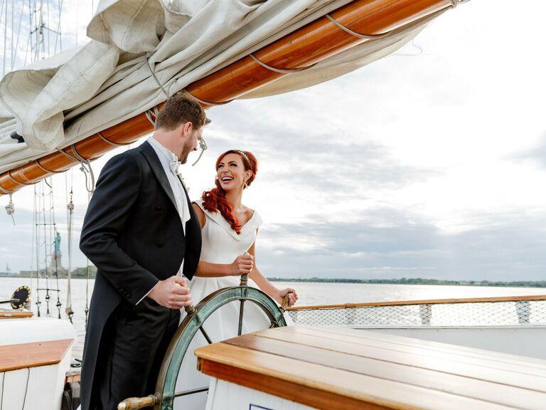 friends themed wedding sailboat venue