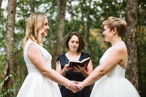 Casual Same-Sex Backyard Ceremony