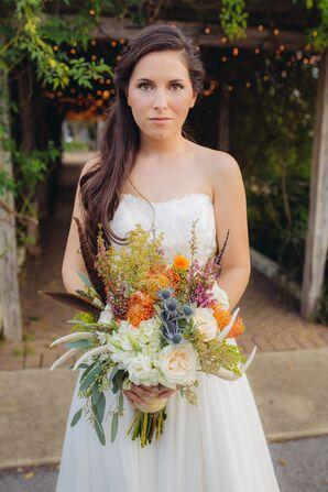 DIY Colorful Lush Wildflower Bouquet