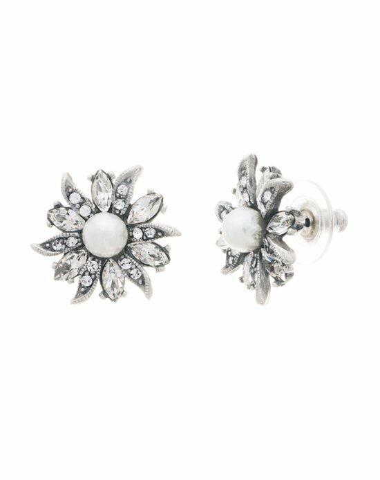 Thomas Laine Ben-Amun Floral and Lace Stud Earring Wedding Earrings photo