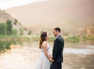 For their late summer wedding, Jaimie Schoen (27 and a freelance writer/blogger and part-time producer at Bella Design & Planning) wanted to combine h
