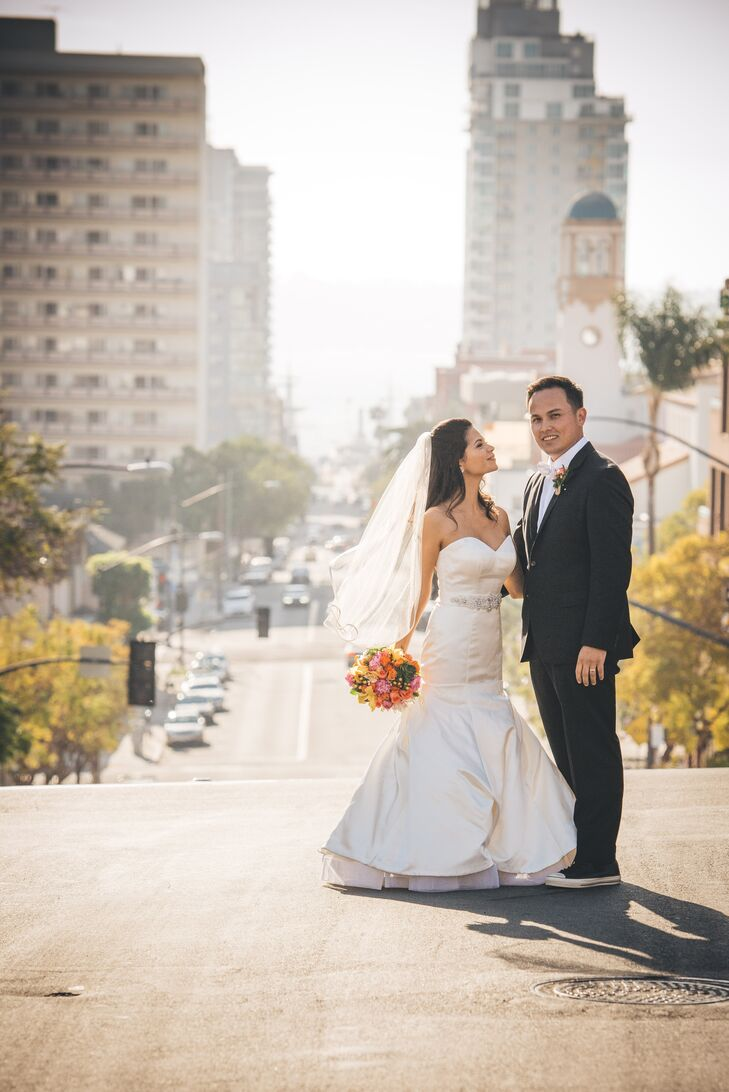 Couple Shot with Urban Backdrop