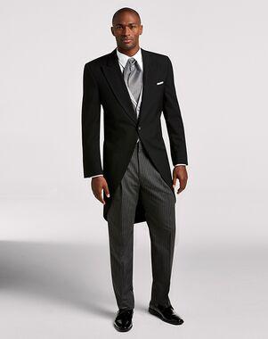 Men's Wearhouse Joseph & Feiss Black Cutaway Lapel Black Tuxedo