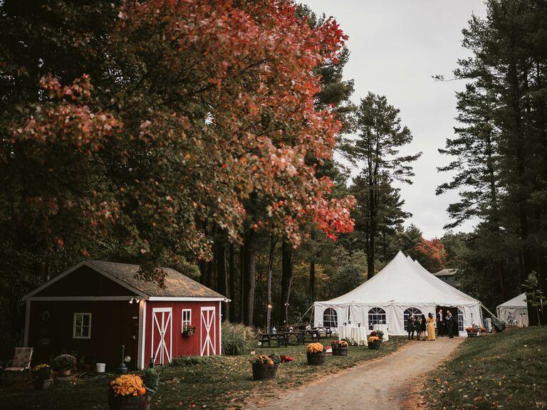 Barn wedding venue in North Andover, Massachusetts.
