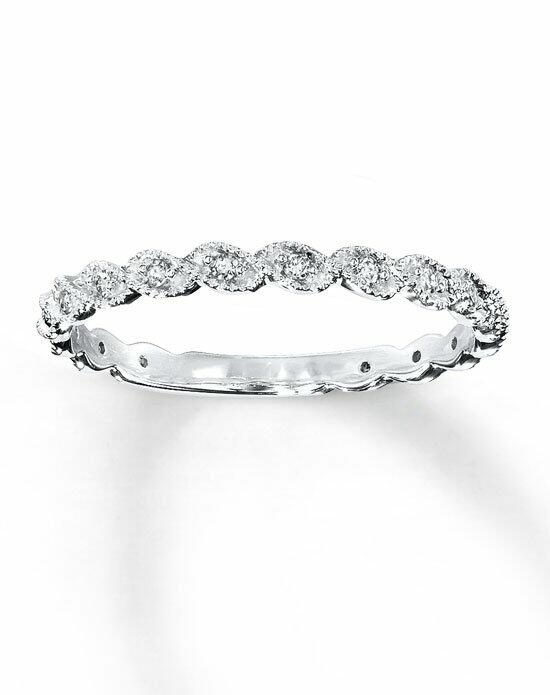 Kay Jewelers Diamond Fashion Band 14K White Gold Round 1/10ct tw-531849002 Wedding Ring photo