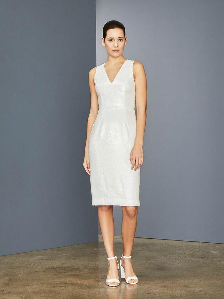 Amsale reception dress