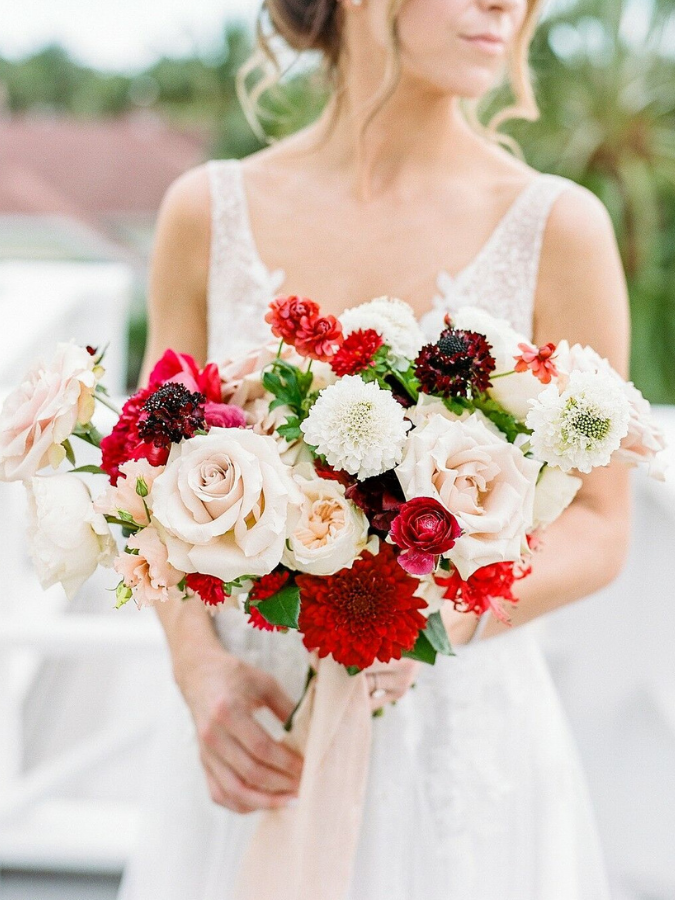 Red-and-white bouquet