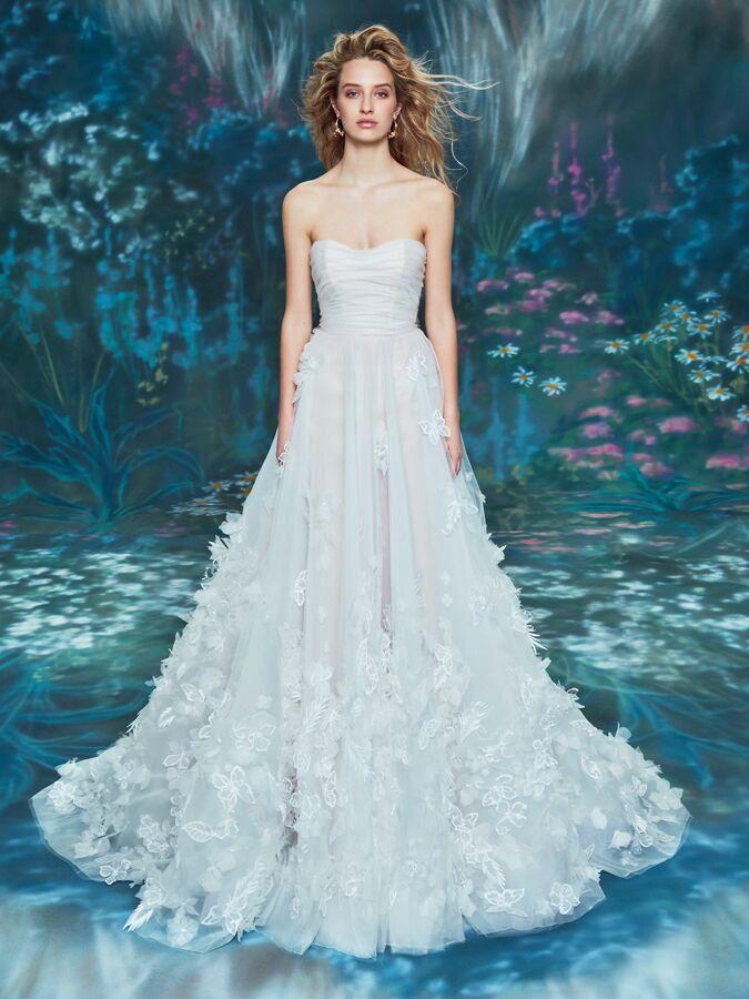 Ines Di Santo strapless A-line wedding dress