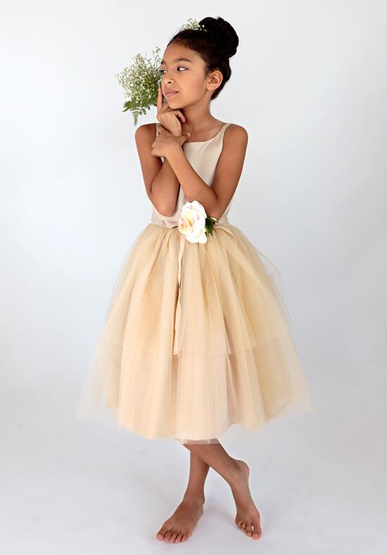 Us Angels Beautiful Color The BallerinaDress-101_Champagne Flower Girl Dress photo