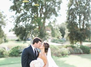 In an elegant outdoor celebration at Santaluz Club in San Diego, California, Bree Marshall (25 and in marketing) married Greg Hueners (30 and in real