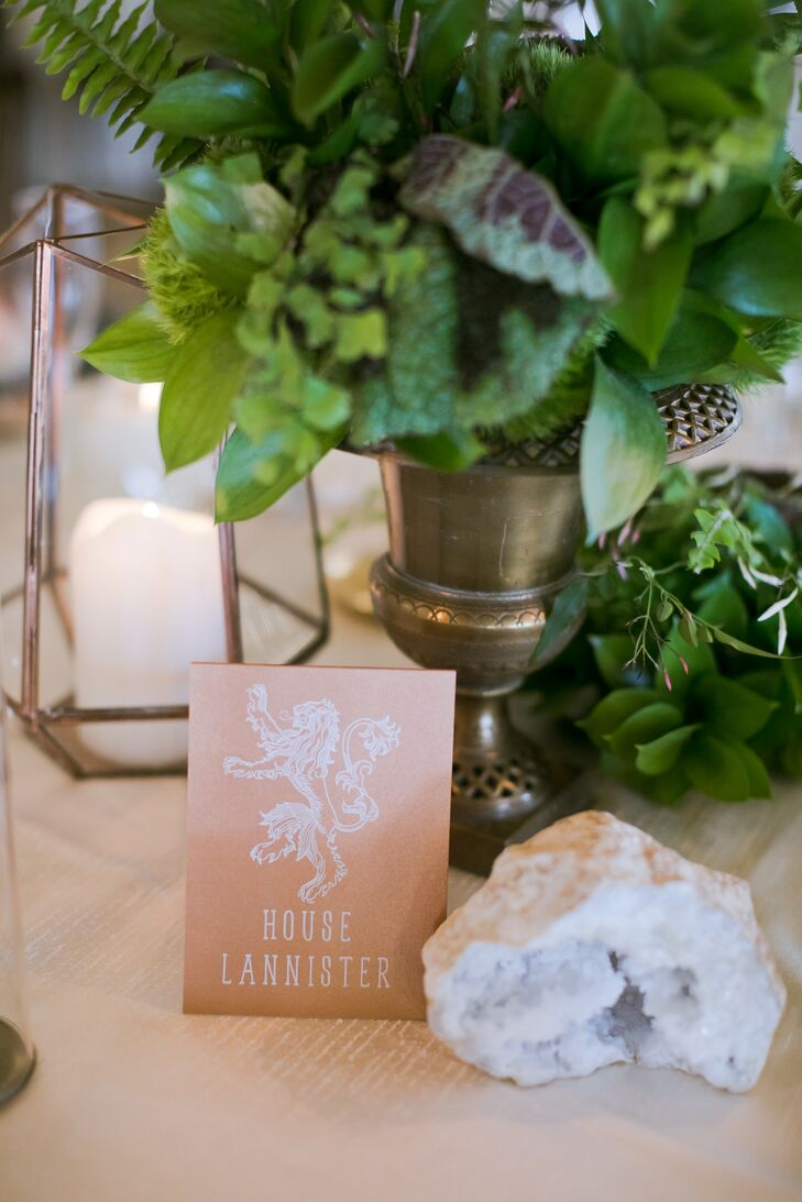 Game of Thrones–Themed Table Names