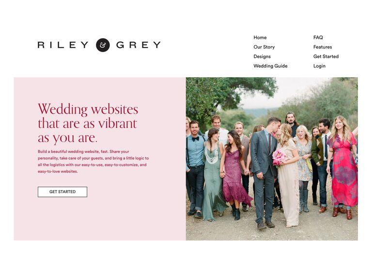 Riley and Grey Wedding Website templates