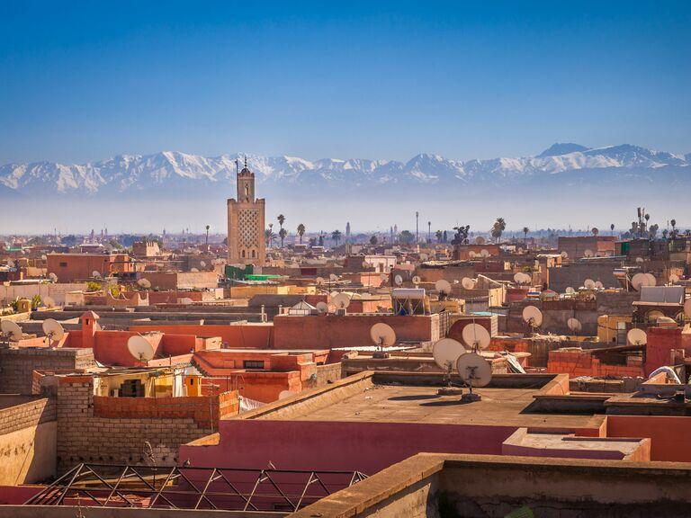 marrakech and atlas mountains