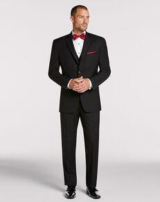 Men's Wearhouse Pronto Uomo Black Notch Lapel Suit Black Tuxedo
