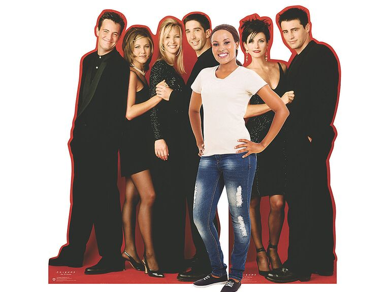Cardboard cutout of Friends characters