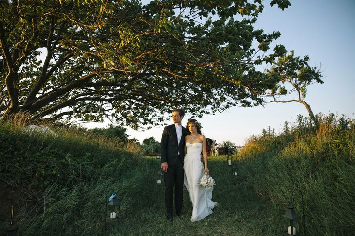 On their 10-year anniversary as a couple, Lindsay and Jay became husband and wife under a cherry tree in the bride's grandmother's backyard on Long Is