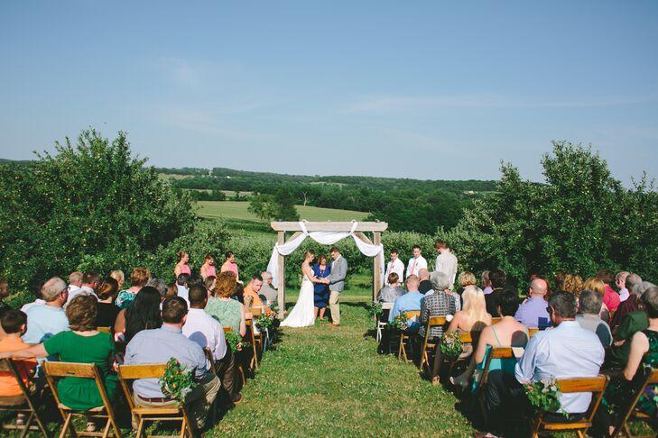 Weston Red Barn Farm Wedding Ceremony