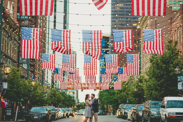 Kristin and Justin engagement photo Denver, CO