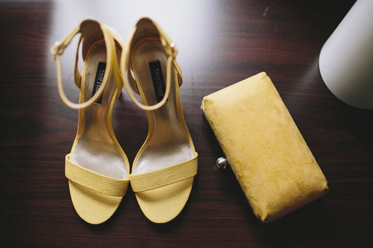 Cheerful Yellow Heels and Clutch