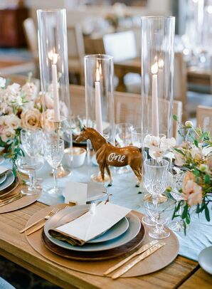 Horse Table Number for Wedding at Vista Valley Country Club in California