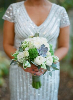 Bridal Bouquet with Tulips Dahlias Roses and Succulents
